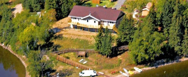 Lake point view of Main Lodge