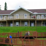View of Main Lodge from the Lake Point