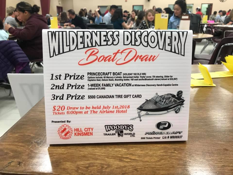 Wilderness Discovery Boat Draw 2018