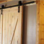 Cabin wood sliding doors