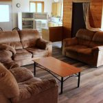 Cabin open concept living space