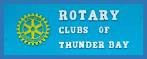 Rotary Clubs of Thunder Bay sign